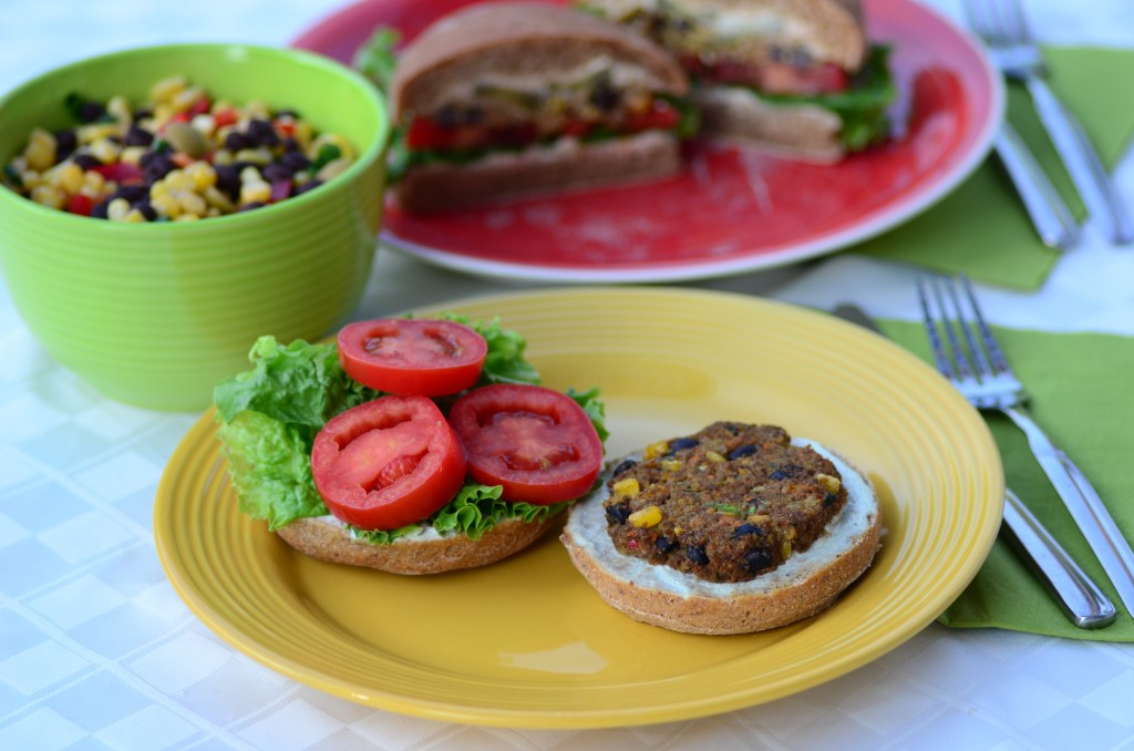 garden burger sandwich