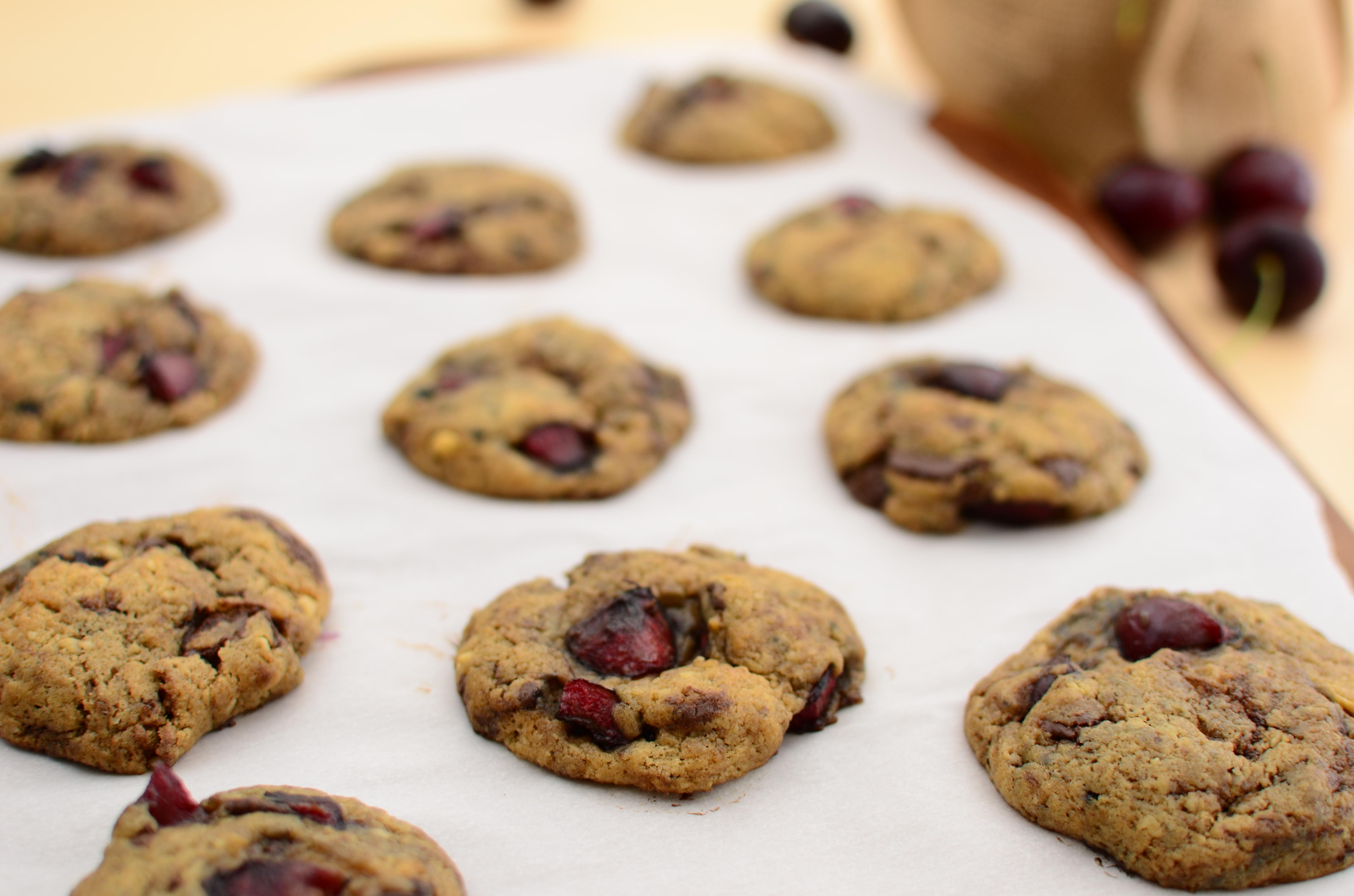 Cherry Chocolate-Chunk Cookies
