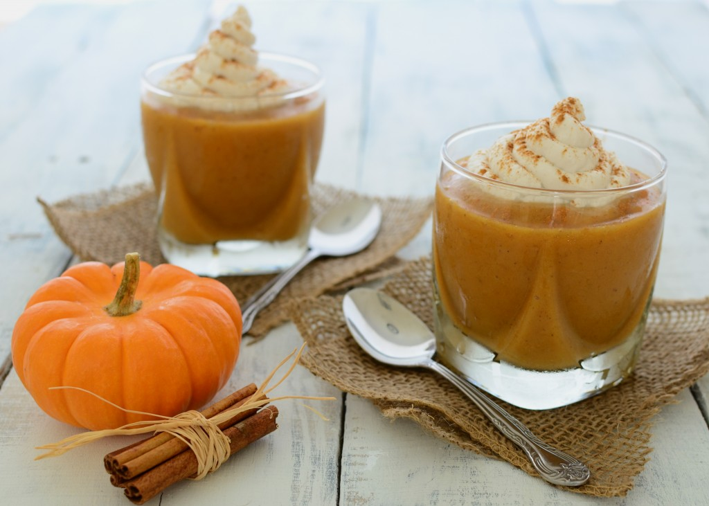 Pumpkin Maple Spice Smoothies + Coconut Whipped Cream