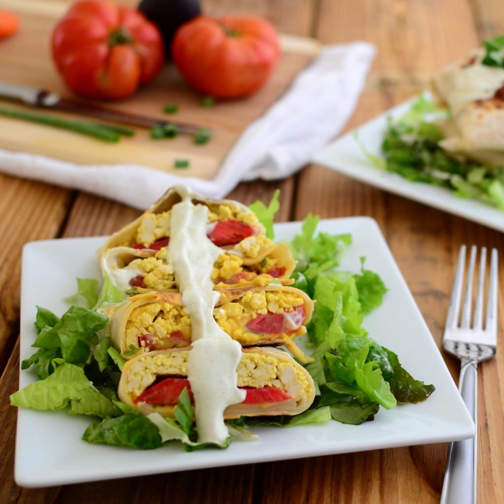 Grilled Tofu Wraps