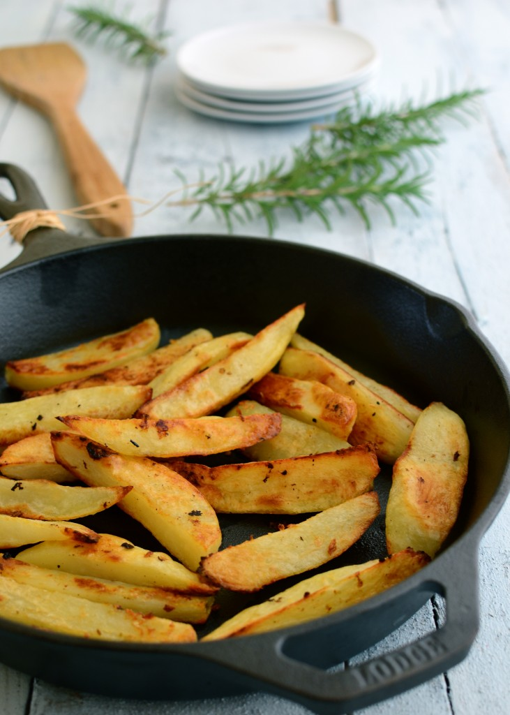 oven garlic fries